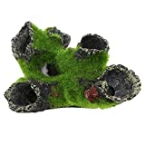 Jocestyle Plastic Tree Decoration Cave for Fish Tank Resin Aquarium Resin Ornament (Style A)