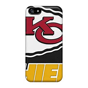 Perfect Hard Phone Cover For Iphone 5/5s With Allow Personal Design Attractive Kansas City Chiefs Skin SherriFakhry