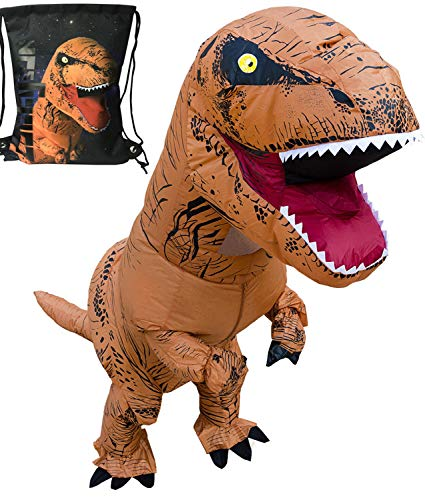 LUCKYSUN Adult Dinosaur Shape Inflatable Costume T-rex Pterosaur Scale with Exclusive Drawstring Bag for $<!--$45.99-->