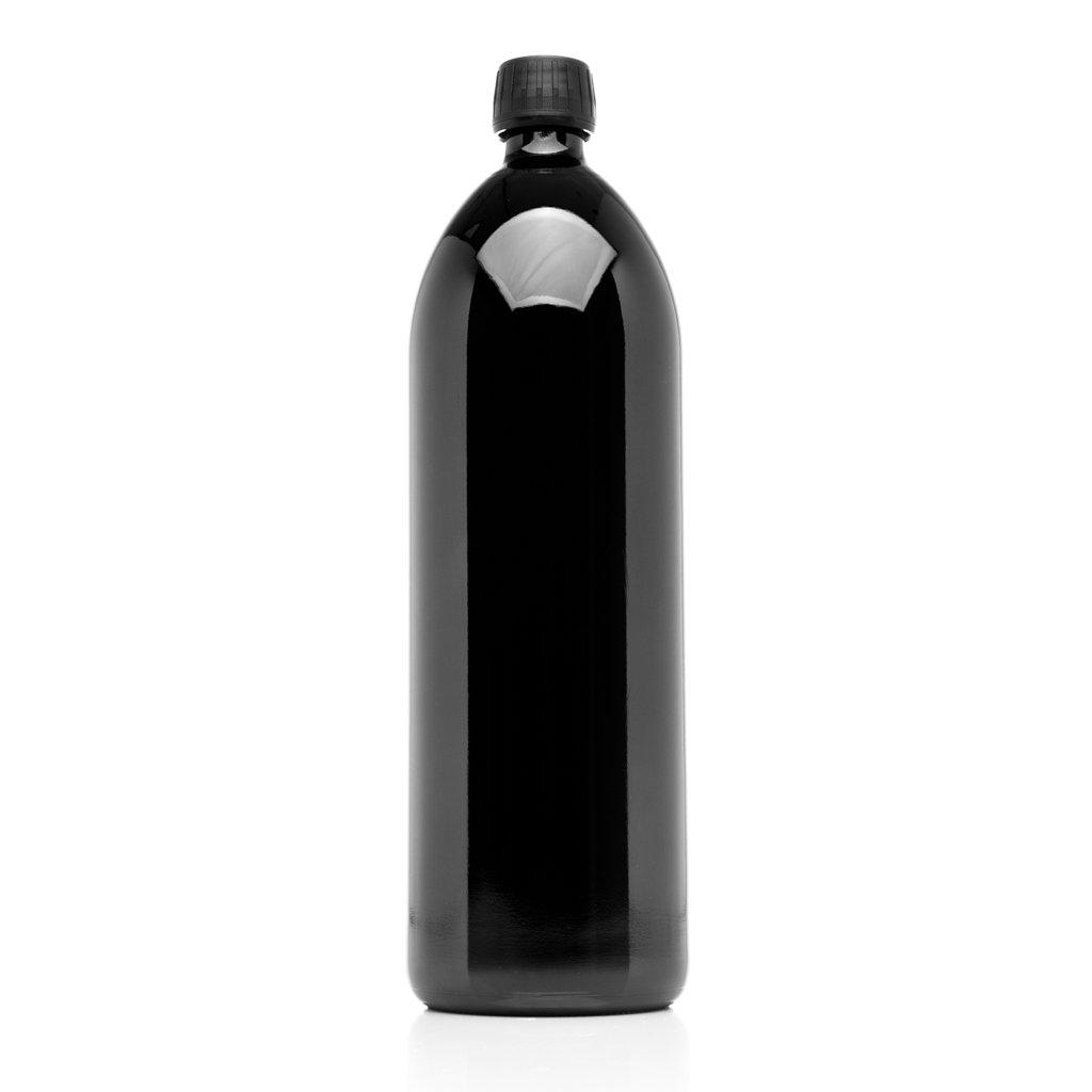 Infinity Jars 1 Liter (34 fl oz) Round Ultraviolet Large Glass Water Bottle