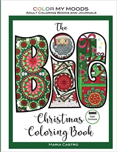 Amazon.com: The BIG Christmas Coloring Book by Color My Moods Adult ...
