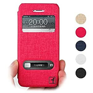 CA-TT-121 Topcel? Flower Show Screen Visible PU Leather Full Body Case for iPhone 5/5S - (Assorted Colors)