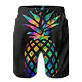 2018 pants Men's Summer Quick Dry Swim Trunks Watercolor Pineapple