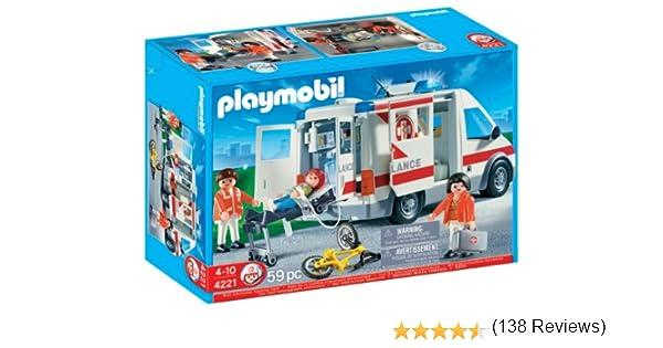 PLAYMOBIL - Coche de urgencias (4221): Amazon.es: Juguetes y juegos