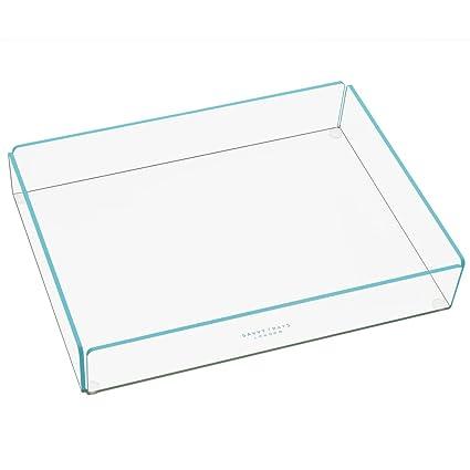 Bandejas funkymemories inteligente para grandes bandejas de almacenamiento apilable de acrílico transparente con adornos de colores