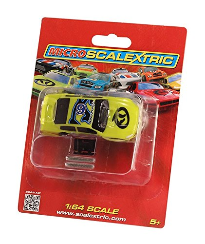 Scalextric Micro 1:64 Green #6 G2158 Scale US Stock Car (Car Body Slot 32 Scale)