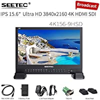 SEETEC 4K156-9HSD 15.6 4K Broadcast Monitor with IPS UHD 3840x2160 4xHDMI Quad Split Display From All Your SD, HD-SDI, 3G-SDI and 4K HDMI 2160P Sources Live Production Broadcast Monitor