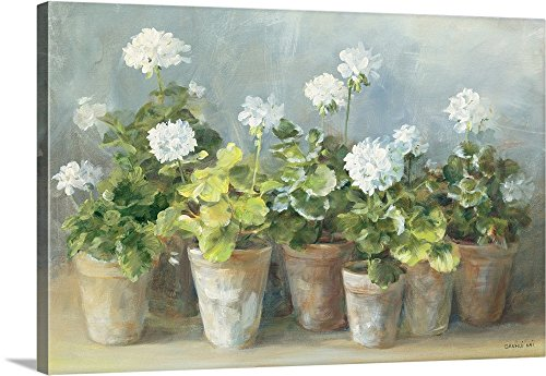- Danhui Nai Premium Thick-Wrap Canvas Wall Art Print entitled White Geraniums 36