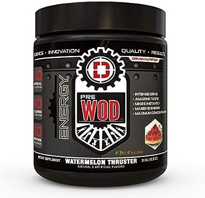 PREWOD Pre Workout - Creatine Free Nitric Oxide (NO) Boosting Preworkout Supplement | Caffeine, Citrulline Malate, Beta Alanine | Focus & Energy Drink Powder (Watermelon Thruster)