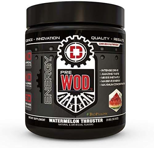 PREWOD Pre Workout - Creatine Free Nitric Oxide (NO) Boosting Preworkout Supplement | Caffeine, Citrulline Malate, Beta Alanine | Focus & Energy Drink Powder (Watermelon Thruster, 50 Servings)