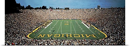 GREATBIGCANVAS Entitled Michigan, Ann Arbor, University of Michigan Stadium Poster Print, 36