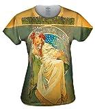Yizzam- Alphonse Mucha-Princess Hyacinth-1911 -TShirt- Womens Shirt-Large