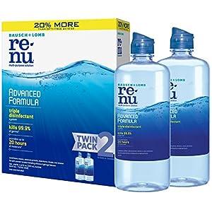 ReNu Lens Solution, Advanced Triple Disinfect Formula, Multi-Purpose, 12 Fluid Ounces (Pack of 2)