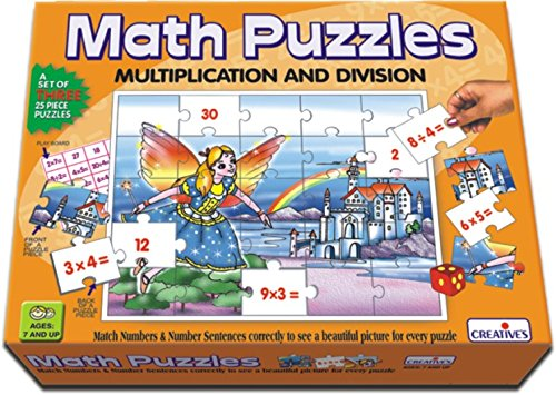 CREATIVE EDUCATIONAL School Multiplication and Division Math Puzzles