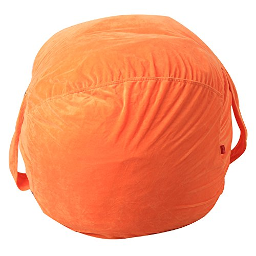 Stuffed Animal Storage Bean Bag - Large Organization Sack Chair - Premium Quality Cotton Canvas Storage Solution for Plush Toys Blankets Towels & Clothes by RONGT