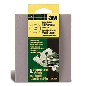 3M Contour Surface Sanding Sponge, 4.5-Inch x 5.5-Inch x 0.1875-Inch, Fine Grit