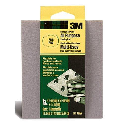 UPC 051111106303, 3M 917NA Contour Surface Sanding Sponge, 4.5 in x 5.5 in x .1875 in, Fine