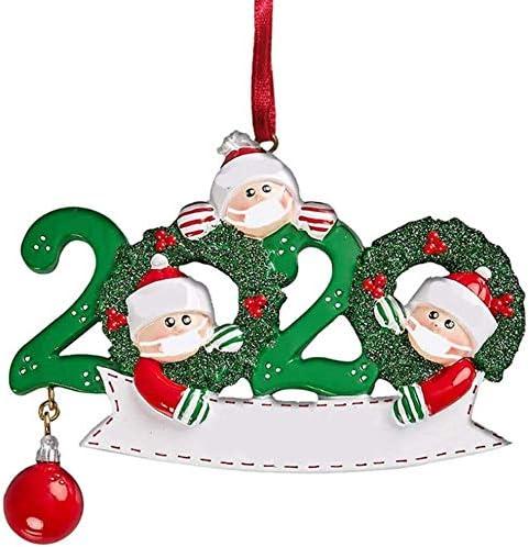 2020 Ornamenti Natalizi Famiglia Personalizzato Nome Natale Kit Sopravvissuto Famiglia Ornamenti Albero di Natale Decorazioni per Le Vacanze di Natale Ornamenti D'attaccatura