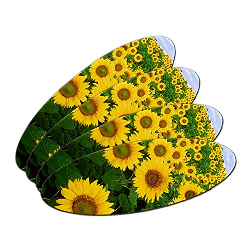 Field of Sunflowers Double-Sided Oval Nail File Emery Board