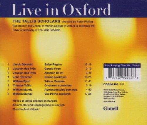 Live in Oxford