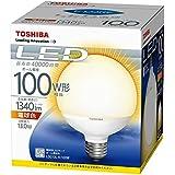 東芝(TOSHIBA)  LED電球 ボール電球形 1340lm(電球色相当)TOSHIBA E-CORE(イー・コア) LDG13L-H/100W LDG13L-H/100W 口金直径26mm