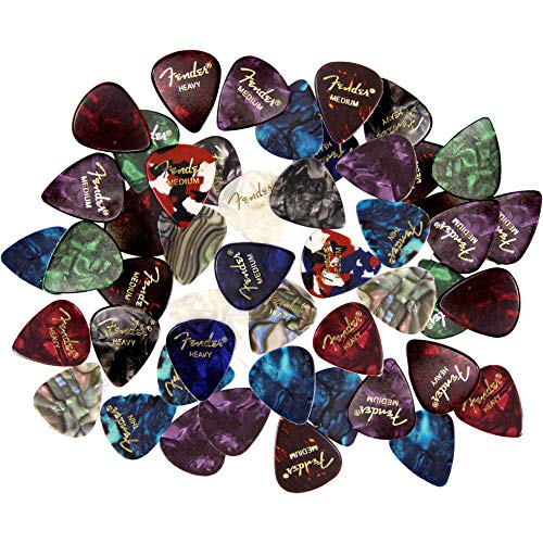 Fender Premium Picks Sampler - 48 Pack Includes Thin, Medium & Heavy Gauges (Austin Bazaar Exclusive)