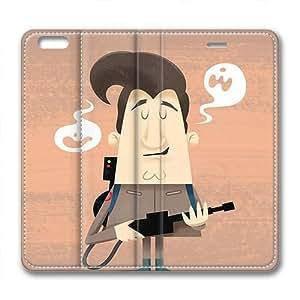 Iphone 6 leather Case,Iphone 6 Cases ,Gun villain Custom Iphone 6(4.7)High-grade leather Cases