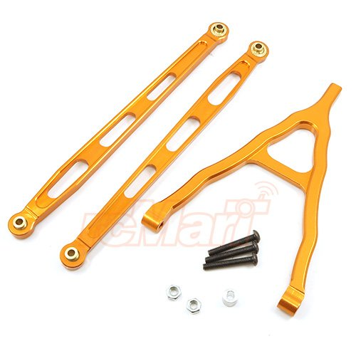 - Xtra Speed Aluminum 6061 T6 Front Chassis Links Parts Orange For Axial SCX10 #XS-SCX22502OR