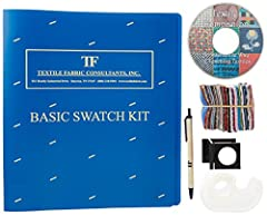 The Basic Textiles Swatch Kit contains 126 fabric swatches, heavy weight mounting sheets and a master list of fabrics in a 3 ring binder. This does NOT includes the 5x magnification linen tester, tape for mounting the swatches, a pen nor the ...