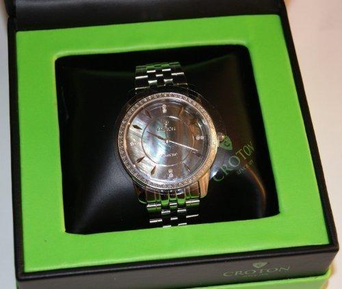 Croton 0.5 CT TW Diamond GENTS STAINLESS STEEL Swiss Quartz Watch