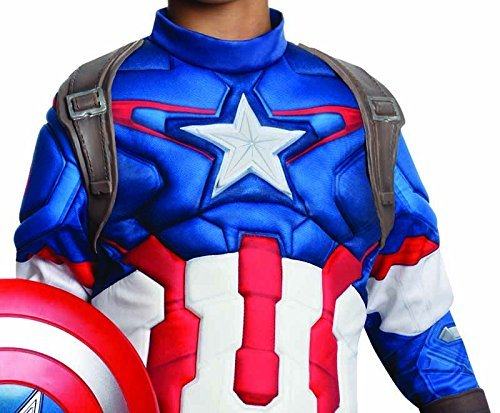 [Rubie's Costume Avengers 2 Age of Ultron Child's Deluxe Captain America Costume, Small] (Captain America Boys Costumes)