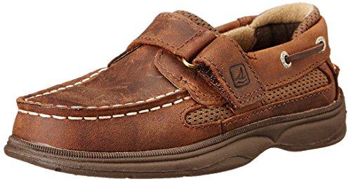 Sperry Top-Sider Cutter Hook and Loop Boat Shoe (Toddler/Little Kid/Big Kid), Brown, 11 W US Little Kid