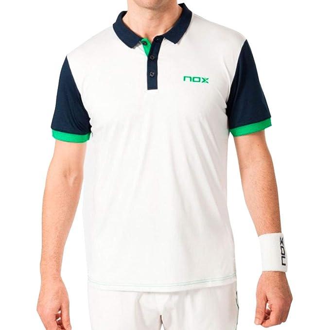 NOX Polo Pro Blanco con Logo Verde: Amazon.es: Deportes y aire libre