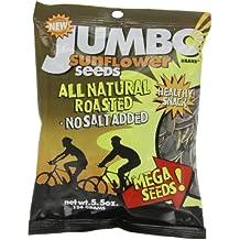 JUMBO SUNFLOWER SEEDS Sunflower Seeds, Mega No Salt, 5.5-Ounce (Pack of 12)
