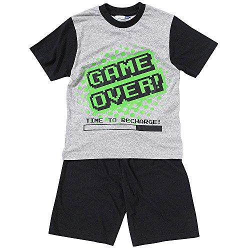 The Pyjama Factory Boys Game Over Space Invader Short Pyjamas Pj Pjs Nightwear