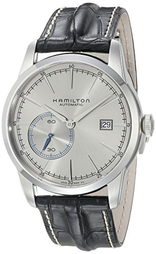 Hamilton Men's 'Timeless Classic' Swiss Automatic Stainless Steel and Leather Casual Watch, Color:Black (Model: H40515781) by Hamilton