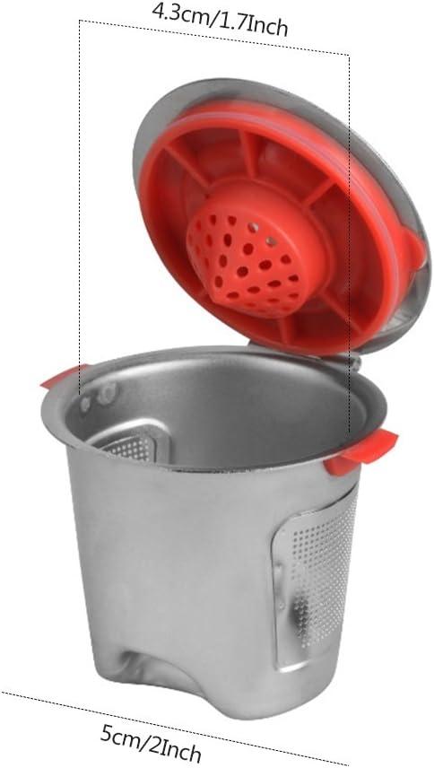 ALLOMN Capsules de capsule r/éutilisables en m/étal dacier inoxydable rechargeables pour des paniers de tasse de Keurig K K-cup Pod
