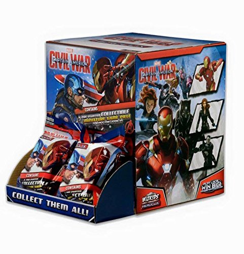 Marvel HeroClix: Captain America Civil War Movie Booster Box WZK 72271 (The Cast Of Captain America Civil War)