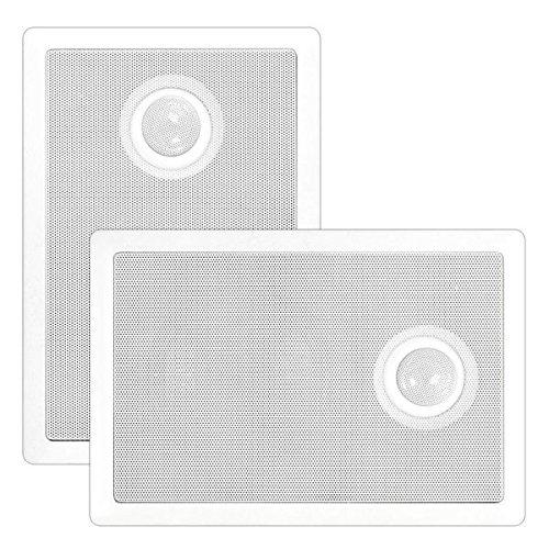 Titanium Screw Pyle - Pyle PDIW52 In-Wall / In-Ceiling Dual 5.25'' Speaker System, Directional Tweeter, 2-Way, Flush Mount, White (Pair)