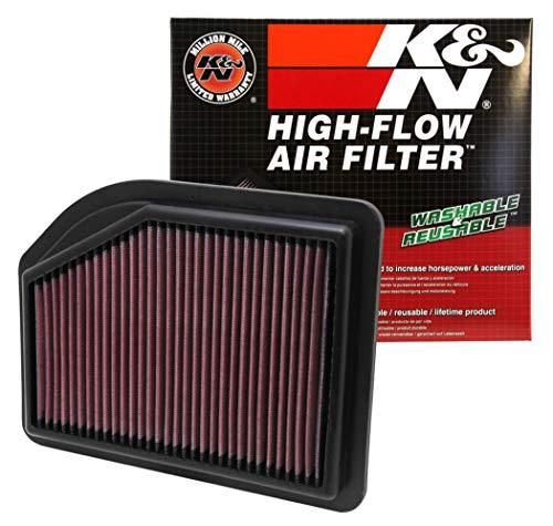K&N engine air filter, washable and reusable:  2012-2104 Honda CR-V L4 2.4L 33-2477