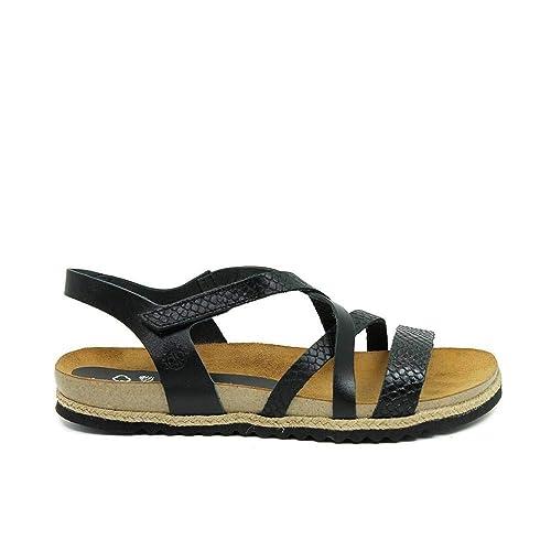 26a7133a43d Yokono Chipre 100 Vaquetilla Serpiente Negro  Amazon.es  Zapatos y  complementos