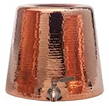 Sertodo Copper, Hand Hammered Pure Copper Niagara Water Dispenser with Lid, 2.5 Gallon Capacity