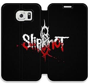 caso del tirón del cuero Slipknot K5V57S6 Samsung Galaxy S6 funda de plástico T5I46K0 caja personalizada funda