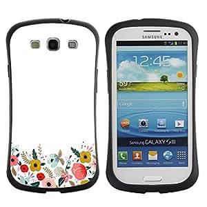 Suave TPU GEL Carcasa Funda Silicona Blando Estuche Caso de protección (para) Samsung Galaxy S3 I9300 / CECELL Phone case / / Minimalist Clean Field Flowers /