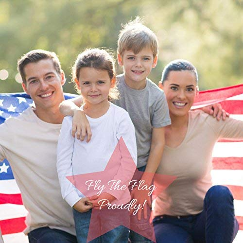 American Flag 3x5 ft - Heavy-Duty US Flag - Embroidered Stars - Nylon USA Flag Built for Outdoors - Sewn Stripes - UV Protection - Brass Grommets by NatFlag (Image #1)