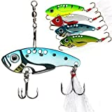 #3: Sougayilang Spinner Spoon Swimbait Vibrating Jigging Freshwater Saltwater Fishing Tackle Lures and Baits