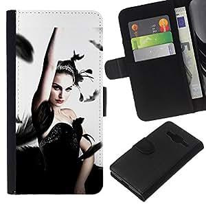 Stuss Case / Funda Carcasa PU de Cuero - Cisne negro - Samsung Galaxy Core Prime