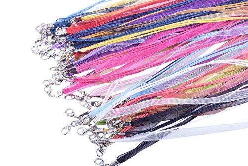 Buy organza ribbon necklace cord