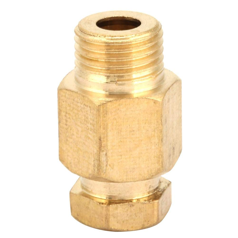 10# NPT Adapter,5pcs Brass Reducing Pipe Fitting NPT Adapter Oil Pipe Connector