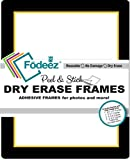 Fodeez Frames 8 Reusable, Long-Lasting Peel and Stick Wall Decal with Dry Erase Mark, Black/Gold (FF-ALL-08-DORM-BLA-GOL)